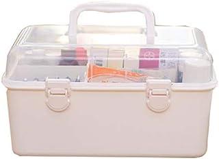 Household Medicine Box Multi-Layer First Aid Kit Multi-Function Medical Box Medicine Storage Box Cosmetic Storage Box MJZDD (Color : White)