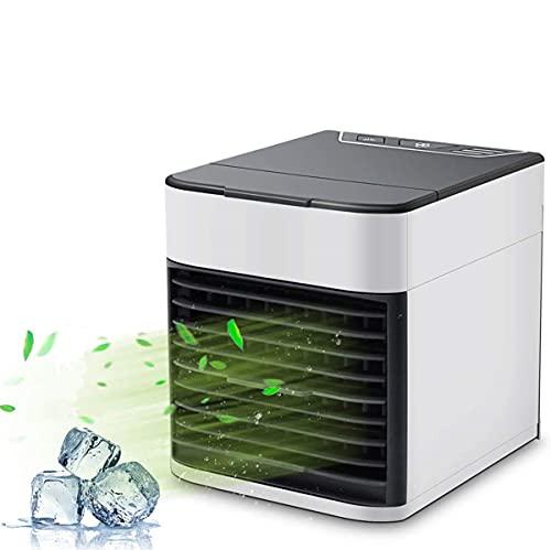 Condizionatore D aria Mobile, Climatizzatore Silenzioso Con Funzione Di Umidificazione e Pulizia, Mini Refrigeratore D aria 3 Velocità Con Luce Notturna a LED a 7 Colori per Casa, Ufficio, Viaggi