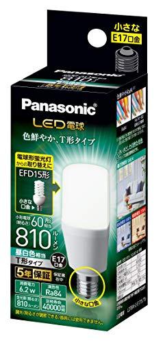 パナソニック LED電球 口金直径17mm 電球60W形相当 昼白色相当(6.2W) 一般電球・T形タイプ 密閉器具対応 LDT6NGE17ST6