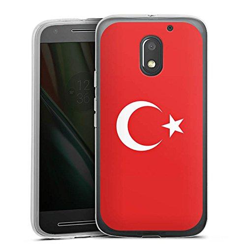 DeinDesign Silikon Hülle kompatibel mit Lenovo Moto E3 Hülle transparent Handyhülle Türkei Flagge Flaggen