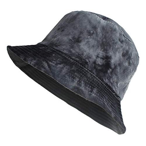MOMO - Sombreros para mujer, para actividades al aire libre, poliéster, de doble cara, para pescador, sombrero de lavabo, sombrero, tie-dye gradient32, C, talla única