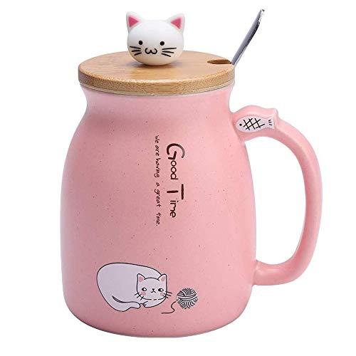 Taza de Cerámica, 420ml Taza Linda del Gato, Taza de café de...