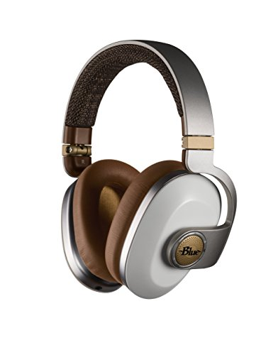 Blue Satellite Premium Wireless Noise-Cancelling Headphones with Audiophile Amp (White) (7136)