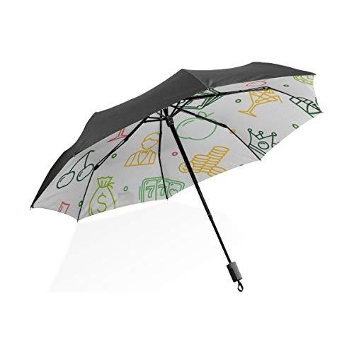 Übergroßen Regenschirm Winddicht Stereo Kreatives Spiel Casino Würfel Punkt Tragbare Kompakte Taschenschirm Anti Uv Schutz Winddicht Outdoor Reise Frauen Große Reise Regenschirm