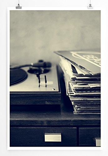 Eau Zone Home Foto - Art foto's - platenspeler en vinyl fotoprint in haarscherpe kwaliteit LEINWANDBILD gespannt 90x60cm