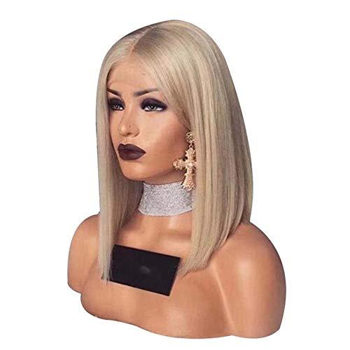 MA-WIGS Blonde Dentelle Avant Perruques de Cheveux Humains brésilienne Droite Dentelle Frontale Perruque pré plumée Miel Blonde Remy Dentelle Perruques