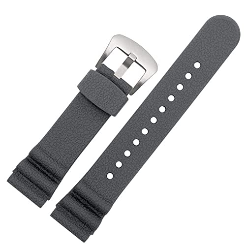 FETTR Correa de silicona de 22 mm para hombre y mujer, correa de goma impermeable, color gris, tamaño: 22 mm
