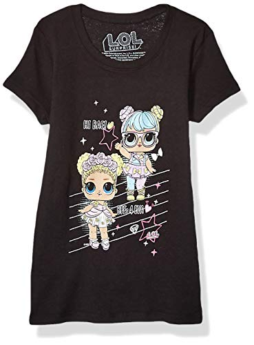 LOL Surprise Girls T-Shirt, Black, Small