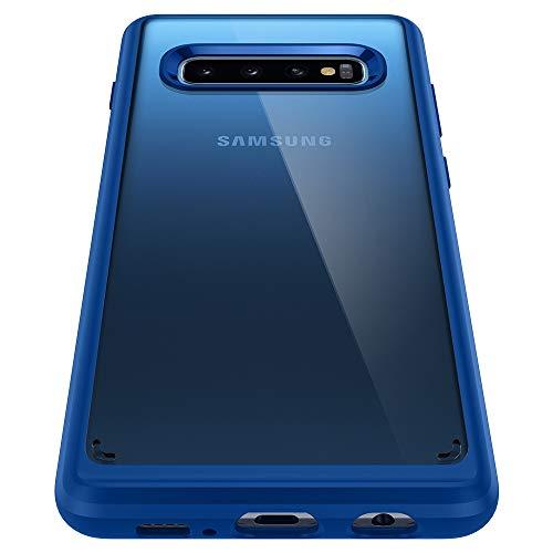 Spigen 605CS26192 Ultra Hybrid Kompatibel mit Samsung Galaxy S10 Hülle, Einteilige Transparent Durchsichtige Schutzhülle Case Prism Blue