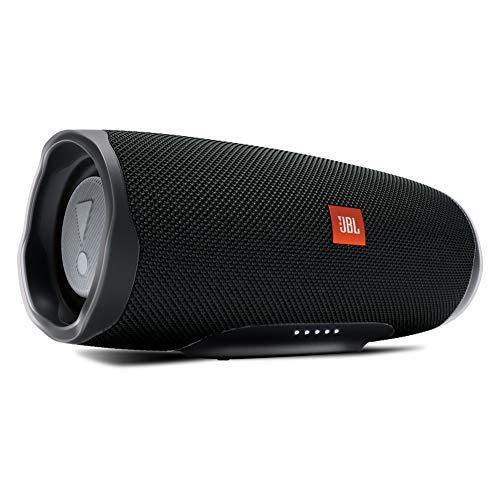 JBL Charge 4 Bluetooth-Lautsprecher - Wasserfeste, portable Boombox mit integrierter Powerbank - Mit nur einer Akku-Ladung bis zu 20 Stunden kabellos Musik streamen Schwarz