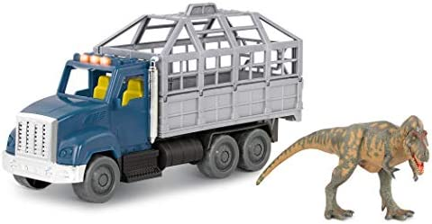 Terra by Battat T Rex Transport Toy Dinosaur Toy Truck with Lights Sounds Movable Parts for product image