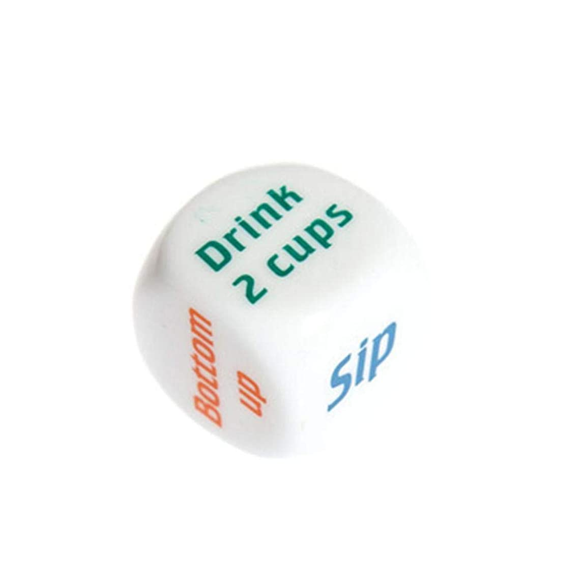 Drinkers' Wager Game Dice,Elao Color Printing English Wine Scorpion Friends Dinner Creative Dice (A)