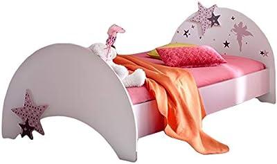 51147e979d Jugendbett Sternchen 90 * 200 cm lila weiß Kinderbett Jugendliege Bettliege  Bett Holz Bettgestell Mädchen Jugendzimmer