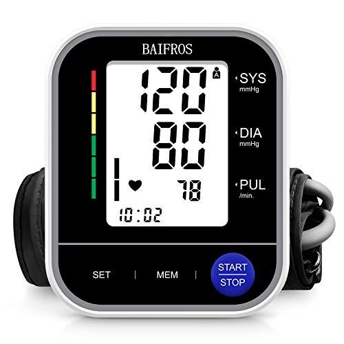 Tensiómetro de Brazo, BAIFROS Monitor de Presión Arterial Digital