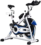Equipo diario Fitness Bicicletas de ejercicio aeróbicas para interiores Ciclismo de interior Bicicleta estática Cinturón directo Bicicleta ultra silenciosa de gama alta duradera (Color: Negro Tamañ