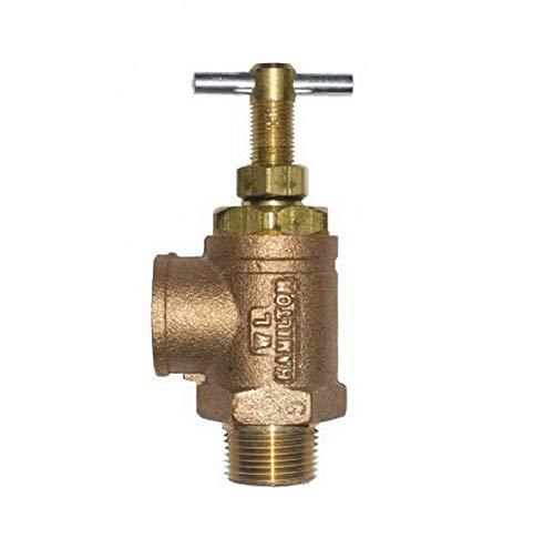 "Brass Pressure Regulating Valve 3/4"" NPT Inlet & Outlet w/ 0-300 PSI Range Farmer Bob's Parts 2053-01"