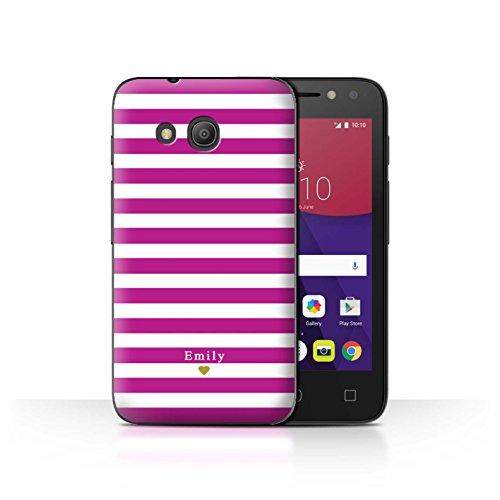 Stuff4Phone Case/Cover/Skin/alcpix44/Custom Stripes/Striped Collection Coeur/Fuchsia Rose