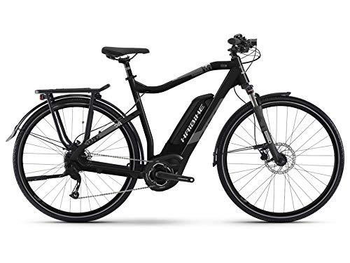 Haibike SDURO Trekking 1.0 Herren E-Bike 400Wh E-Trekkingrad Elektrofahrrad schwarz/Titan/grau matt 2019 RH 56 cm / 28 Zoll