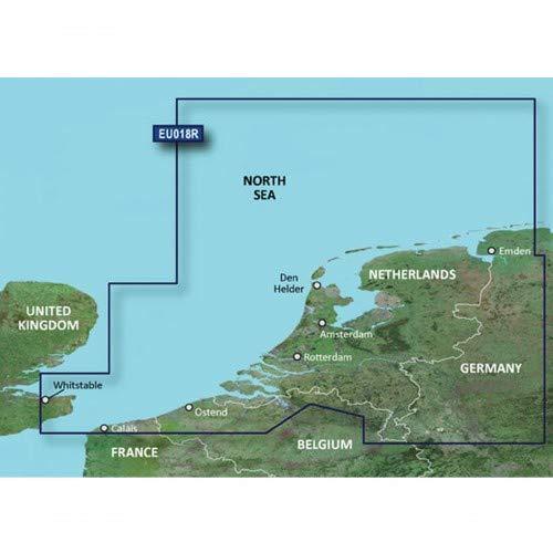 Garmin BlueChart g3 Vision Seekarte Region Europa, Abdeckungsbereich VEU018R - Benelux Offshore und Inland, Kartengröße Regular