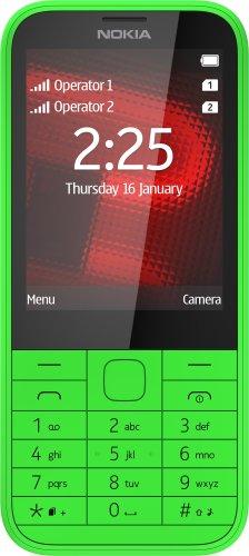 Nokia A00019211 225 Dual-SIM Handy (GSM-Dualband, 7,1 cm (2,8 Zoll) Bildschirm, 2 Megapixel Kamera, Bluetooth 3.0, 3,5mm Klinke, Micro-USB 2.0) grün
