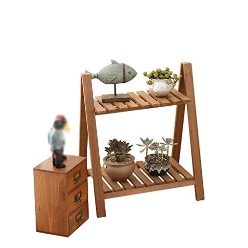 CSQ Support de fleurs rétro en bois massif multifonctionnel pour plantes succulentes, plantes en pot, débris, décoration de chaussures, chambre, salle de bain, entrée balcon (couleur : marron)