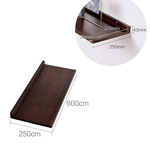Zwevende Planken, Houten Decoratieve, Zwevende Plank Tv-Componenten, Garage/Schuur/Magazijn/Vrijstaande Opslagplanken,Eiken Rek-Walnoot 600X250Mm