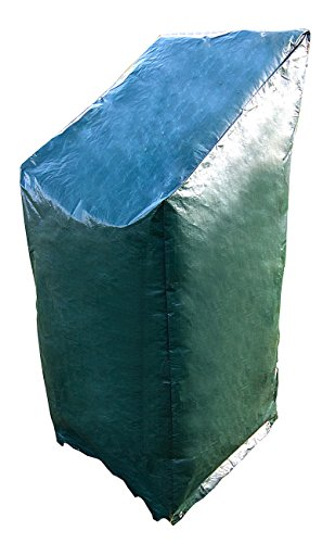 Royal Gardineer Gartenstuhlabdeckung: Gewebe-Abdeckplane für Stapel-Gartenstühle, 65 x 110/150 x 65 cm (Schutzhülle Gartenstühle)