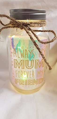 Always My Mum Forever My Friend Light Up Bouteille (piles non incluses) : environ 18 x 8cms