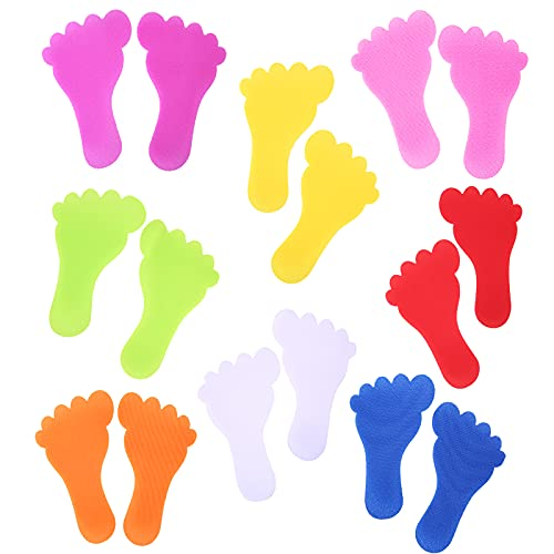 48 PCS Feet Spot Markers Colorful Carpet Markers 7 Inch Foot Shaped Floor Markers Footprint Carpet Spot Dots