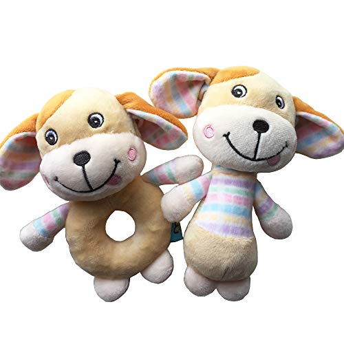 Review Of FOREAST 2 Pcs Set Baby Hand Grasp Rattles Toys Newborn Cartoon Soft Plush Animals (Bunny C...