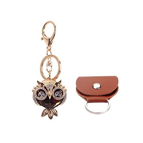 SUPVOX Owl Keychain Crystal Diamond Keyring Handbag Purse Charm Pendent Decoration with...