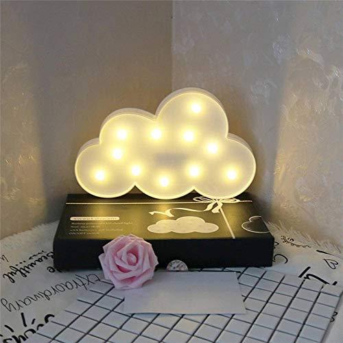 N-B Luz de Noche LED 3D Linda Estrella Luna diseño de Nube Adornos de Escritorio de Pared lámpara de guardería para niños decoración de Dormitorio de Navidad