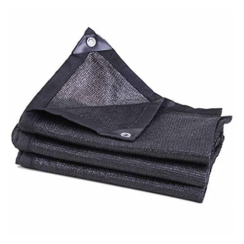 KUAIE Rectangulares Toldo Toldo Vela de Sombra con Ojales Engrosamiento del Cifrado por Patio Jardín Toldos para Coches Negro, 24 Tamaños (Color : Negro, Size : 3x4m)