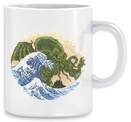Hokusai Cthulhu Taza Ceramic Mug Cup