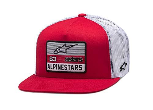 Alpinestars Patrocinado Hat Gorra de béisbol, Rojo Blanco, OS para Hombre