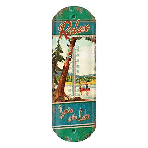 River's Edge Products Tin Thermometer - at The Lake