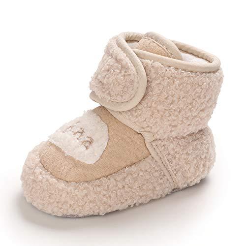 Ortego Baby Mädchen Junge Schuhe Winter Boots Winterschuhe Winterstiefel Babyschuhe 19 Khaki 6-12 Monate