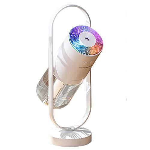 Cooler Nebel Luftbefeuchter - tragbarer Mini-Luftbefeuchter mit LED-Lichtern, tragbarer USB-Luftbefeuchter Ultra-Leise, Geeignet für Babys, Kinder, Innen, Schlafzimmer, Büro, Auto, Reisen (Weiß)