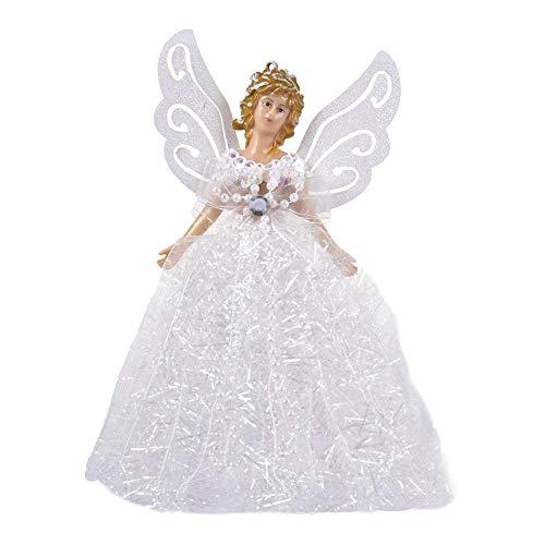 SDJSPYQH Mini Engel Weihnachtsbaum Anhänger Mit Silbernen Flügeln Für Weihnachtsschmuck Weihnachtsbaum Ornament...