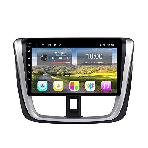 Navegación GPS, reproductor multimedia de video con radio de coche Android 8.1 de 10.1 pulgadas para Toyota vios 2016-2017 con pantalla HD, Play Store, Wifi, 4G + WIFI 2G + 32G