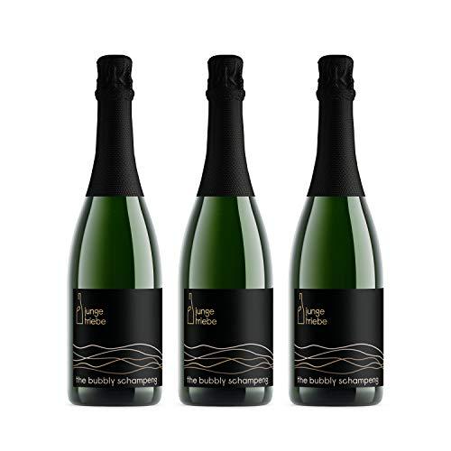 junge triebe | the bubbly schampeng | Riesling Sekt brut, Rheinhessen, Jahrgangssekt, vegan | 3x 0,75l
