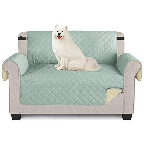 TAOCOCO Funda de Sofá Impermeable Funda de Cojín de Protección para Mascotas Funda de Sofá Antisuciedad(Menta/ 2 Plazas 120 * 190cm)