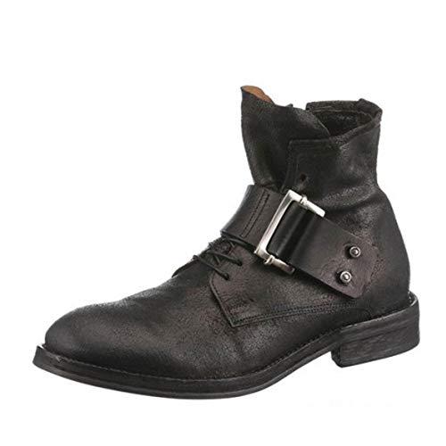 A.S.98 Airstep - Botas de piel con cordones para hombre, color negro, color Negro, talla 40 EU