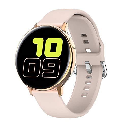 QY-Youth Smart Watch IP68 APROXIMACIÓN APROBACIÓN Fitness Rastreador de Ritmo cardíaco Monitoreo Inteligente Reloj Hombres y Mujeres Reloj de Pulsera,Beige