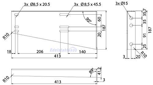 Horizontale Halter für LKW Staukasten Daken Welvet und Daken Just, Montagesatz, Daken HH421 - 2