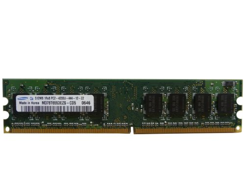 Samsung 512 MB DDR2 PC2–4200U 533 MHz 1RX8 m378t6553ezs-cd5