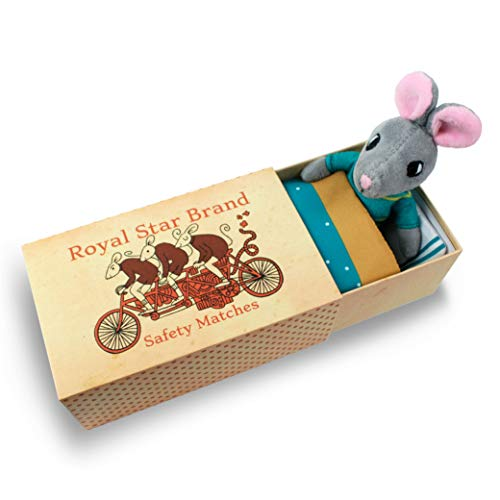 Foothill Toy Co. Matchbox Mice & Friends - 'Harper The Field Mouse' Playset with Stuffed Animal in a Match Box Bed