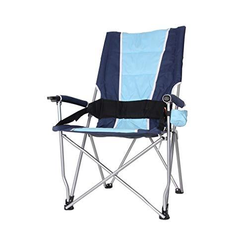 Camping stoelen, opvouwbare Vissen voorzitter versterken Non-slip Outdoor Chair armstoel Barbecue Kruk Maat: 57 * 42 * 102cm (Color : Blue)