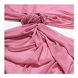 Stoff am Stück Stoff Polyester Chiffon altrosa transparent
