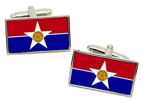 Giftshop UK Dallas Tx (USA) Flagge Manschettenknöpfe IN Box